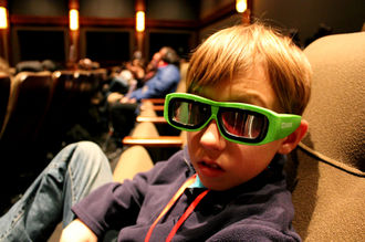 3d glasses boy movie theater Star Wars
