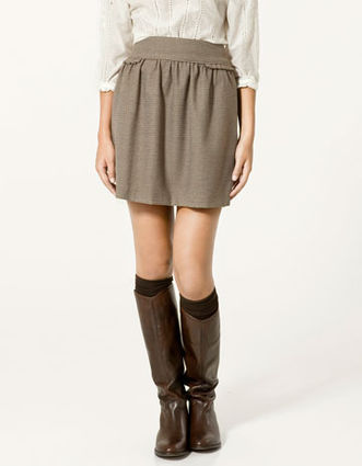 mini skirt knee-high boots knee highs