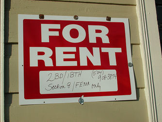 section 8 for rent sign