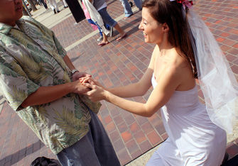 woman proposing to a man