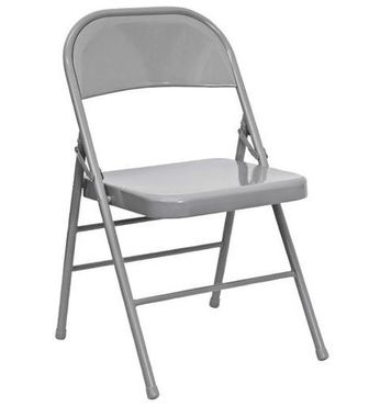 gray folding chairs