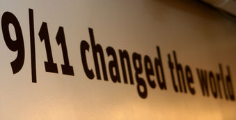 9/11 changed the world sign from New York 9/11 museum