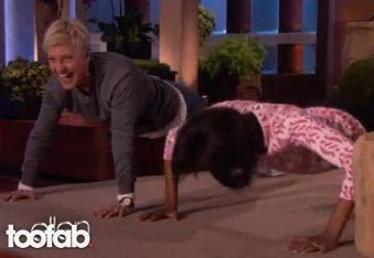 michelle obama does pushups