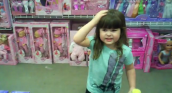 riley on marketing little girl in toy store