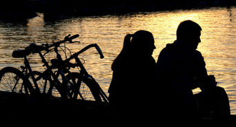 couple at dusk