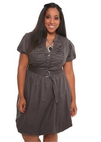 Ruched Bubble Hem Shirt Dress