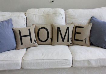 scrabble throw pillows