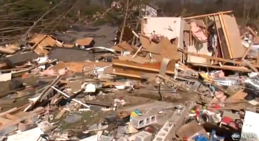 debris from deadly tornadoes