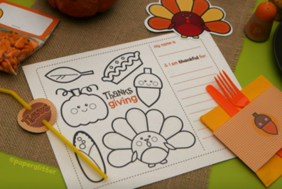 thanksgiving kids table printables