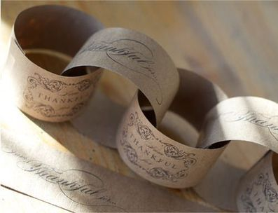 Thanksgiving printable paper chain garland