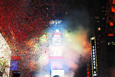 Early Times Square arrivals ready to welcome 2012 long before the New Year's ...