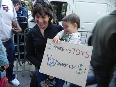 mom at occupy wall street protest