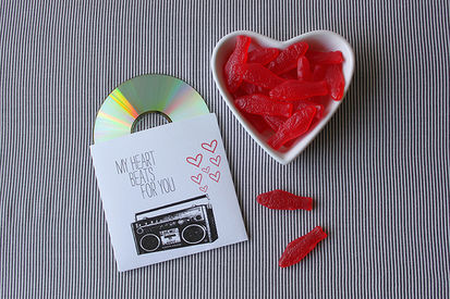Valentine's mix cd cover
