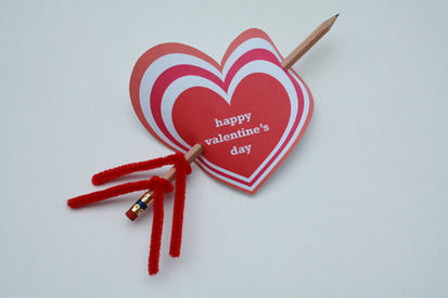 heart card red