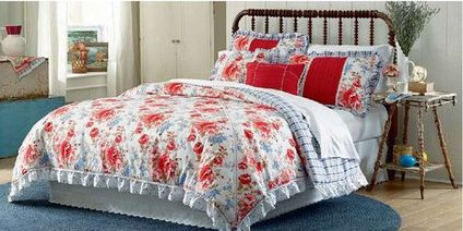 cherished rose floral bedding