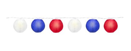 red white blue mini lanterns